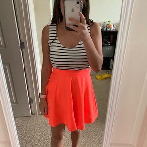 NWT Striped & Salmon Color Dress